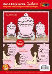 ZV81652 Stand-Easy Kaart XL met Cupcake