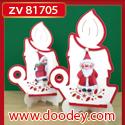 ZV81705 Set 2 staande kerstkaarten kaars