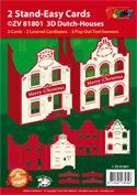 ZV81801 Set 2 staande Hollandse Kersthuisjes