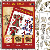 ZV91562 Set Boek met Stickers Match-It Oriental