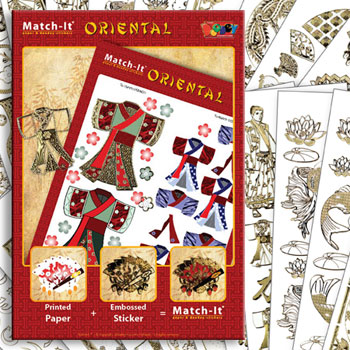 ZV91562 Set Booklet and Stickers Match-It Oriental