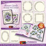 Pyramids Flower Cards by Nel van Veen A5